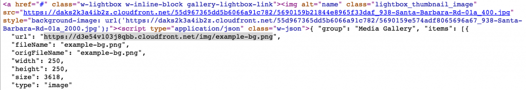 webflow lightbox generated html